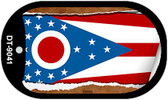 "Ohio State Flag Scroll Dog Tag Kit 2"" Wholesale Metal Novelty Necklace"