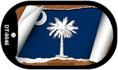 "South Carolina State Flag Scroll Dog Tag Kit 2"" Wholesale Metal Novelty Necklace"