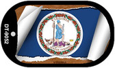 "Virginia State Flag Scroll Dog Tag Kit 2"" Wholesale Metal Novelty Necklace"