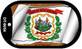 "West Virginia State Flag Scroll Dog Tag Kit 2"" Wholesale Metal Novelty Necklace"