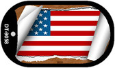 "USA Country Flag Scroll Dog Tag Kit 2"" Wholesale Metal Novelty Necklace"
