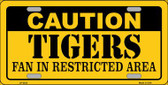Caution Tigers Fan Wholesale Metal Novelty License Plate LP-2633