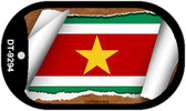 "Suriname Flag Country Flag Scroll Dog Tag Kit 2"" Wholesale Metal Novelty Necklace"