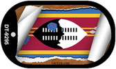 "Swaziland Flag Country Flag Scroll Dog Tag Kit 2"" Wholesale Metal Novelty Necklace"