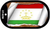 "Tajikistan Flag Country Flag Scroll Dog Tag Kit 2"" Wholesale Metal Novelty Necklace"
