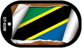 "Tanzania Flag Country Flag Scroll Dog Tag Kit 2"" Wholesale Metal Novelty Necklace"