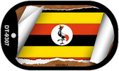 "Uganda Flag Country Flag Scroll Dog Tag Kit 2"" Wholesale Metal Novelty Necklace"