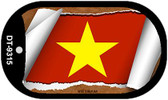 "Vietnam Flag Country Flag Scroll Dog Tag Kit 2"" Wholesale Metal Novelty Necklace"