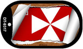 """Wallis Flag Country Flag Scroll Dog Tag Kit 2"""" Wholesale Metal Novelty Necklace"""