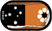 "Northern Territory Flag Country Flag Scroll Dog Tag Kit 2"" Wholesale Metal Novelty Necklace"