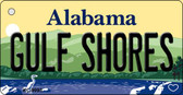 Gulf Shores Alabama Background Metal Novelty Wholesale Key Chain