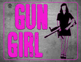 Gun Girl Wholesale Metal Novelty Parking Sign