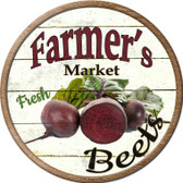 Farmers Market Beets Wholesale Novelty Metal Circular Sign
