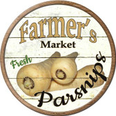 Farmers Market Parsnips Novelty Wholesale Metal Circular Sign