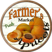 Farmers Market Apricots Novelty Wholesale Metal Circular Sign