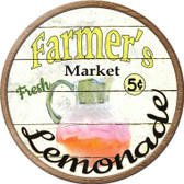 Farmers Market Lemonade Wholesale Novelty Metal Circular Sign