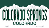 Colorado Springs Colorado Background Wholesale Metal Novelty Magnet M-9913