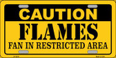 Caution Flames Wholesale Metal Novelty License Plate LP-2670