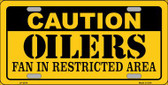 Caution Oilers Wholesale Metal Novelty License Plate LP-2676