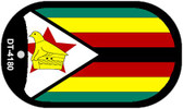 "Zimbabwe Flag Country Flag Dog Tag Kit 2"" Wholesale Metal Novelty Necklace"