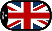 "Britain Flag Country Flag Dog Tag Kit 2"" Wholesale Metal Novelty Necklace"