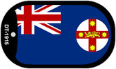 "New South Wales Flag Country Flag Dog Tag Kit 2"" Wholesale Metal Novelty Necklace"