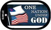 "One Nation Under God Flag Country Flag Dog Tag Kit 2"" Wholesale Metal Novelty Necklace"