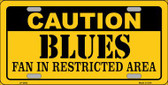 Caution Blues Wholesale Metal Novelty License Plate LP-2682
