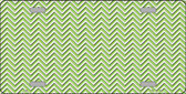 Lime Green White Chevron Wholesale Metal Novelty License Plate LP-2687