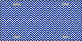 Blue White Chevron  Wholesale Metal Novelty License Plate LP-2694
