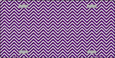 Purple White Chevron Wholesale Metal Novelty License Plate LP-2696