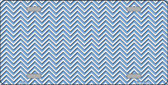 Light Blue White Chevron Wholesale Metal Novelty License Plate LP-2697