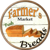 Farmers Market Breads Wholesale Novelty Metal Circular Sign