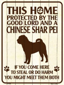 This Home Protected By A Chinese Shar Pei Parking Sign Metal Novelty Wholesale