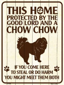 This Home Protected By A Chow Chow Parking Sign Metal Novelty Wholesale