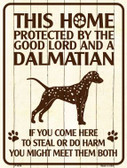 This Home Protected By A Dalmation Parking Sign Metal Novelty Wholesale