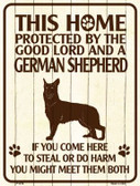 This Home Protected By A German Shepherd Parking Sign Metal Novelty Wholesale