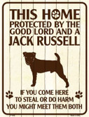 This Home Protected By A Jack Russell Parking Sign Metal Novelty Wholesale