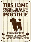 This Home Protected By A Poodle Parking Sign Metal Novelty Wholesale