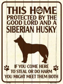 This Home Protected By A Siberian Husky Parking Sign Metal Novelty Wholesale