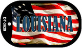"Louisiana Dog Tag Kit 2"" Wholesale Metal Novelty Necklace"