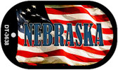 "Nebraska Dog Tag Kit 2"" Wholesale Metal Novelty Necklace"