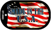 "Made in the USA Dog Tag Kit 2"" Wholesale Metal Novelty Necklace"