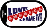 "Love America or Leave it Dog Tag Kit 2"" Wholesale Metal Novelty Necklace"