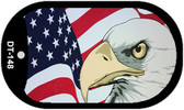 "Eagle American Flag Dog Tag Kit 2"" Wholesale Metal Novelty Necklace"