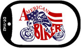 "American Biker Dog Tag Kit 2"" Wholesale Metal Novelty Necklace"