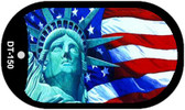 "Lady Liberty Dog Tag Kit 2"" Wholesale Metal Novelty Necklace"