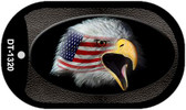 "American Flag Eagle Dog Tag Kit 2"" Wholesale Metal Novelty Necklace"