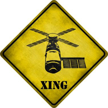 Mars Rover Xing Novelty Metal Crossing Sign Wholesale