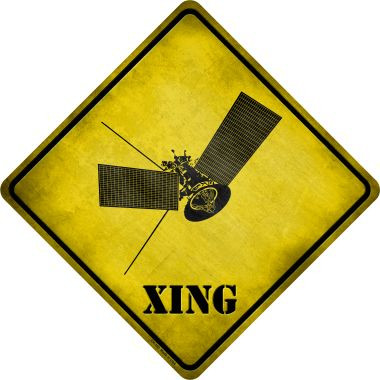 Satellite Xing Novelty Metal Crossing Sign Wholesale
